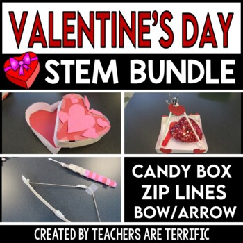 STEM Activities Challenge Heart Bundle Candy Boxes Bow
