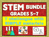STEM Challenge Bundle Grades 5-7: Moon Lander, Catapult, Rocket, Flinker, & more