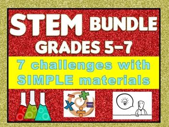 STEM Challenge Bundle Grades 5-7: Moon Lander, Catapult, Rocket, Flinker, & more