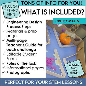 Halloween STEM Challenges Bundle