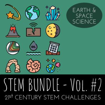 STEM Challenge Bundle Vol.2  - Includes 12 Earth Science/Space  STEM Activities