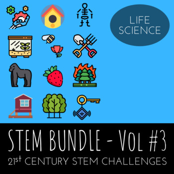 STEM Challenge Bundle Vol.3  - Includes 12 Life Science  STEM Activities