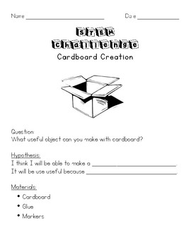 STEM Challenge: Cardboard Creation