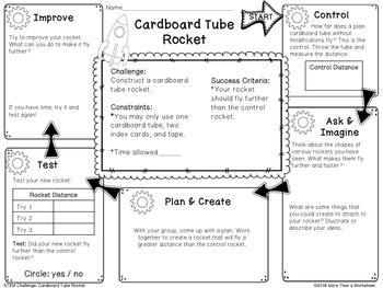 STEM Challenge: Cardboard Tube Rocket