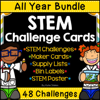 STEM Challenges for the ENTIRE YEAR - Complete 12 Month Bundle
