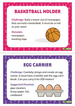 STEM Challenge Cards - Lower Years