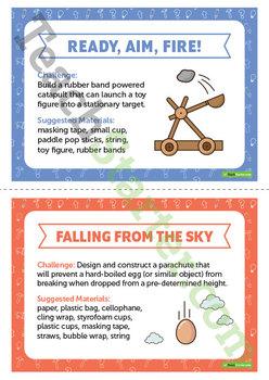 STEM Challenge Cards - Upper Years