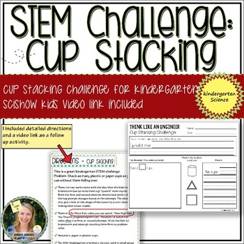 STEM Challenge: Cup Stacking with SciShow Kids Video Link