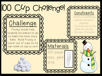 STEM Challenge: Cup Tower - Holiday Themed!