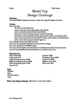 STEM Challenge: Design A City