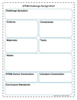 Stem Challenge Design Brief Template By A Minute To Stem It Tpt