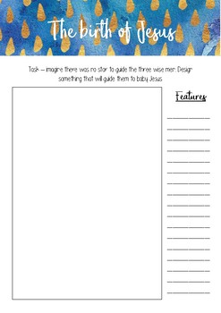 STEM Challenge - Design something to guide the 3 wise men to Jesus - printable