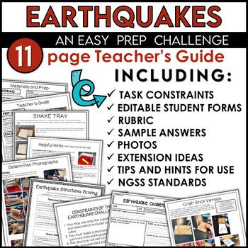 STEM Activity Challenge Earthquake Resistant Building