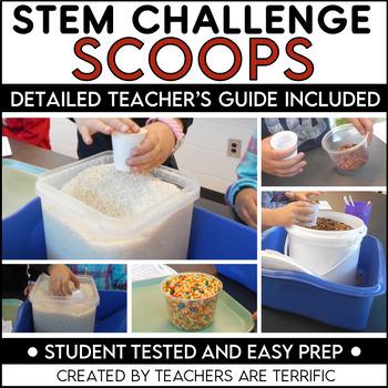 STEM Challenge Exploring Volume with Scoops