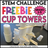 STEM Challenge Sticks and Cups Tower FREEBIE
