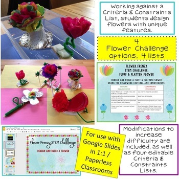 STEM Challenge: Flower Frenzy 1:1 Paperless Version