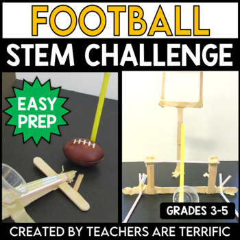 STEM Activity Challenge Football Goalposts and Kicker