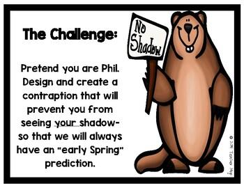 STEM Challenge: Groundhog Shadows - A FREEBIE!