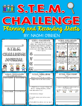 STEM Challenge Journal: Planning and Response Sheets
