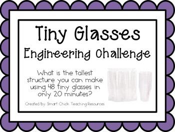 STEM Challenge KIT ~ Tiny Glasses Challenge ~ EVERYTHING YOU NEED!