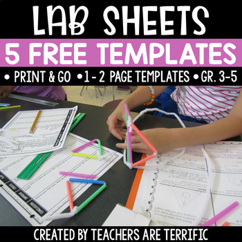 STEM Challenge Lab Sheets FREEBIE