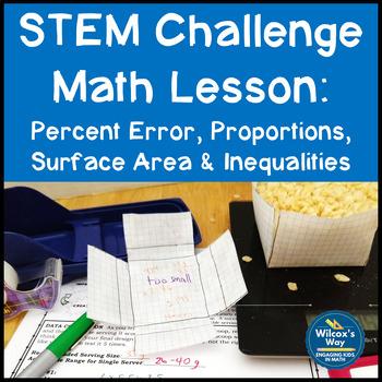 STEM Challenge Math Activity: Percent Error, Proportions, & Surface Area