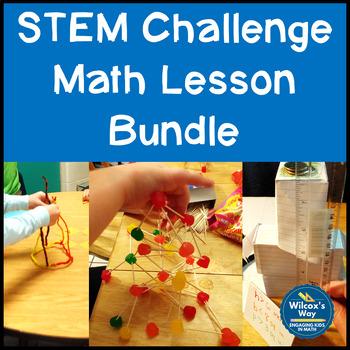 STEM Challenge Math Lesson Activities Bundle