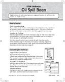STEM Challenge: Oil Spill Boom (Science Concept: Buoyancy/Properties of Oil)