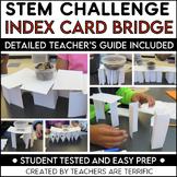STEM Engineering Challenge: Bridges with Index Cards