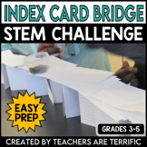 STEM Activity Challenge Bridges with Index Cards