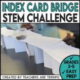 STEM Activity Challenge Bridges with Index Cards