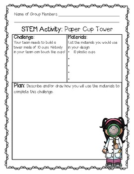 STEM Challenge Paper Cup Tower