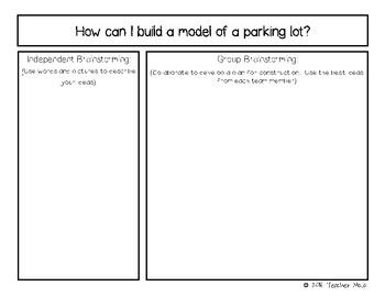 STEM Challenge:  Parking Lot Problems (Printables)