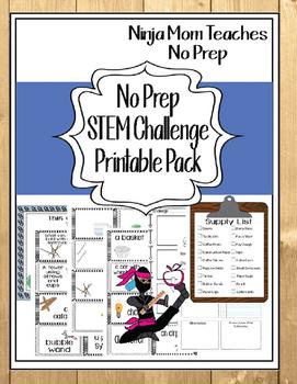 STEM Challenge Printable Pack- No Prep