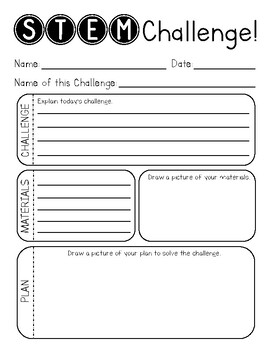 STEM Challenge Recording Sheet