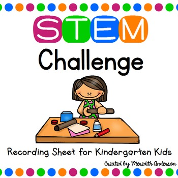 STEM Challenge Recording Sheet for Kindergarten Kids