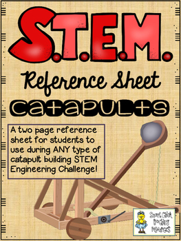STEM Challenge Reference Sheet - Catapults - Use with ANY STEM Challenge!