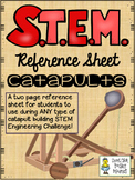 STEM Challenge Reference Sheet - Catapults - Use with ANY