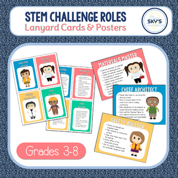 STEM Challenge Roles FREEBIE | Lanyard Cards & Posters