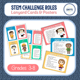 STEM Challenge Roles FREEBIE   Lanyard Cards & Posters