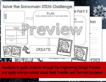 STEM Challenge - Save the Snowman: Heat Transfer and Insulation - NGSS Aligned!