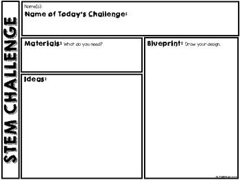 STEM Challenge Sheet