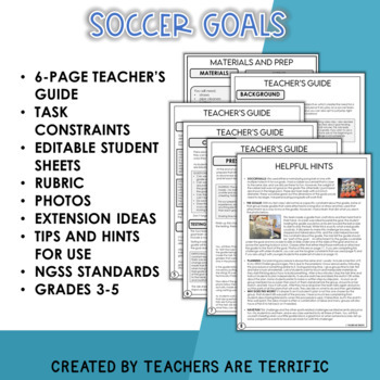 STEM Activity Challenge Soccer Goal and Goalie