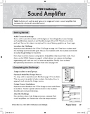 STEM Challenge: Sound Amplifier (Physical Science Concept: Sound Energy)