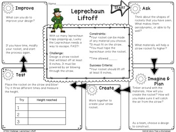STEM Challenge: St. Patrick's Day Leprechaun Liftoff