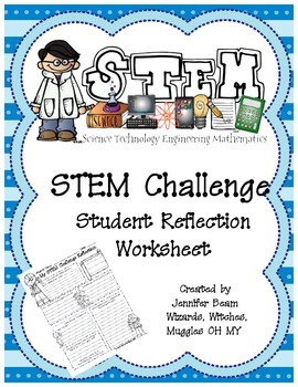 stem challenge student reflection worksheet by ms stem ms beam. Black Bedroom Furniture Sets. Home Design Ideas