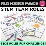 STEM Challenge TEAM ROLES - Badge templates