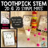 STEM Challenge - Toothpick 2D 3D SHAPE MATS