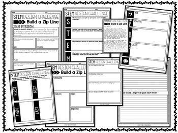 STEM Challenge - Zip Line Design Activity