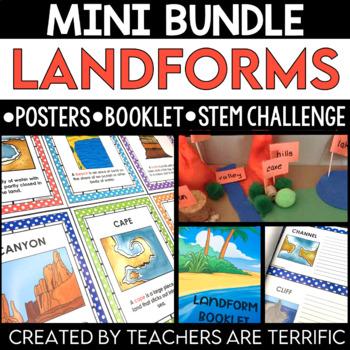STEM Challenge and Landforms Booklet Bundle